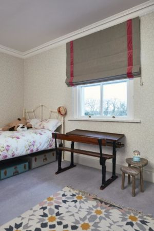 kids bedroom,carpeting,blinds,desk,rug,bed,wallpaper