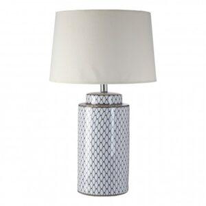 Ceramic Table Lamp / Cream Shade