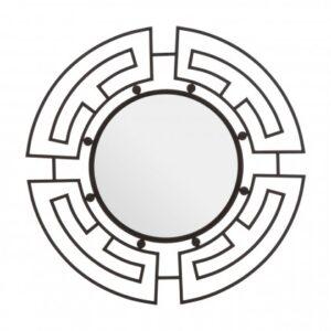 Jalal Round Wall Mirror Black