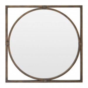 Jair Square Wall Mirror Brushed Bronze