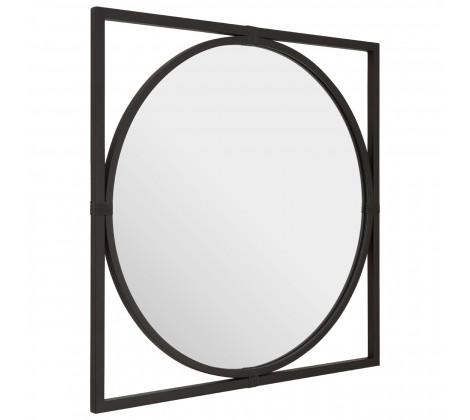 Jair Square Wall Mirror Black