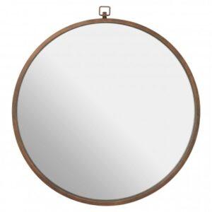 Jacen Round Wall Mirror Bronze