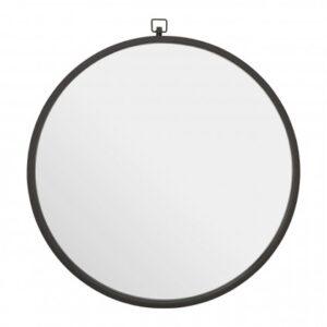 Jacen Round Wall Mirror Black