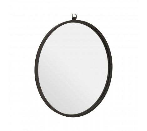 Jacen Round Wall Mirror Black
